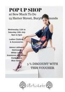 Pop Up Shop in Bury St Edmunds