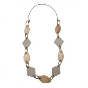 Grey & Taupe Geometric Statement Necklace