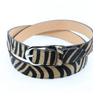 Animal Print Adjustable Leather belt i Tiger