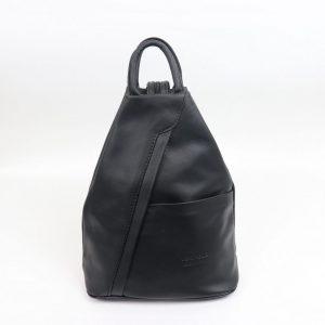 Italian leather Backpack in Black