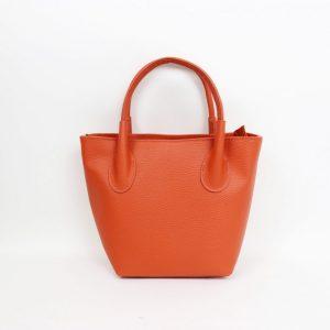 Bucket Bag with cross body strap in burnt orange