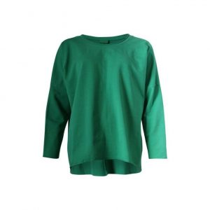 Loopback Crew Neck Sweatshirt in Emerald Green