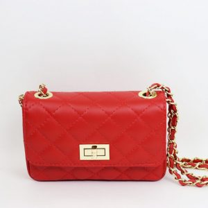 Italian Leather Small 'Chanel Style' Quilted Handbag