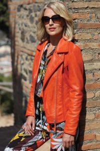Pomodoro leather jacket