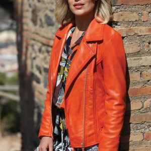 Pomodoro leather jacket