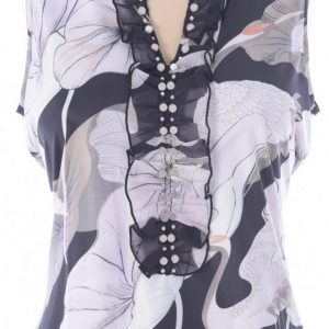 Pearls & Print Blouse from K-Design