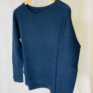 slash Neck slouch Jumper in Teal
