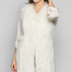 kONG fAUX fUR gILET FROM DAVID bARRY