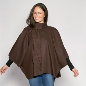 short cape from david barry in chocolate