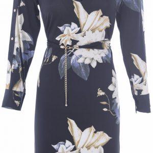 Floral Shift Dress in Black from K-Design