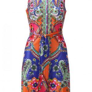 Vibrant Paisley Sleeveless Dress from K Design